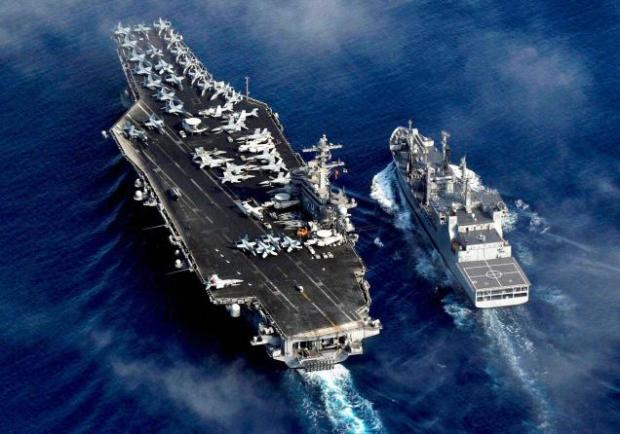 Ties are moving beyond 'parallel actions' to convergence. The file picture is of an India-U.S. joint naval exercise in the Bay of Bengal.