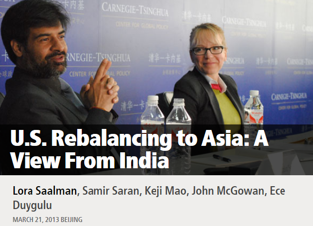 U.S. Rebalancing to Asia: A View From India